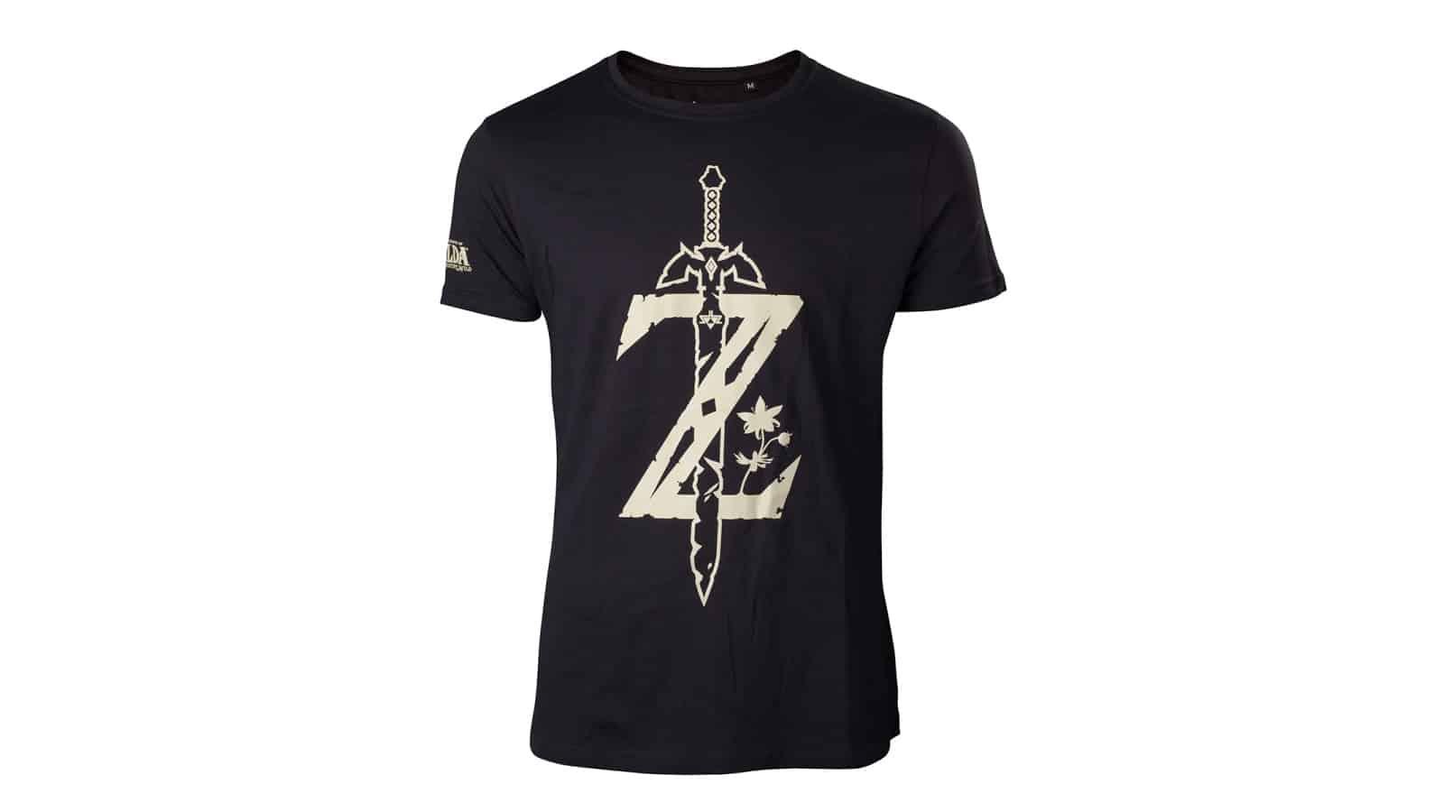 חולצה - זלדה Z עם חרב - שחור