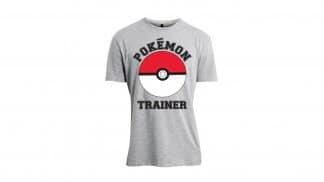 חולצה אפורה של מאמן פוקימונים והפוקדור
