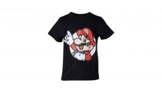 חולצת סופר מריו שחורה לילדים