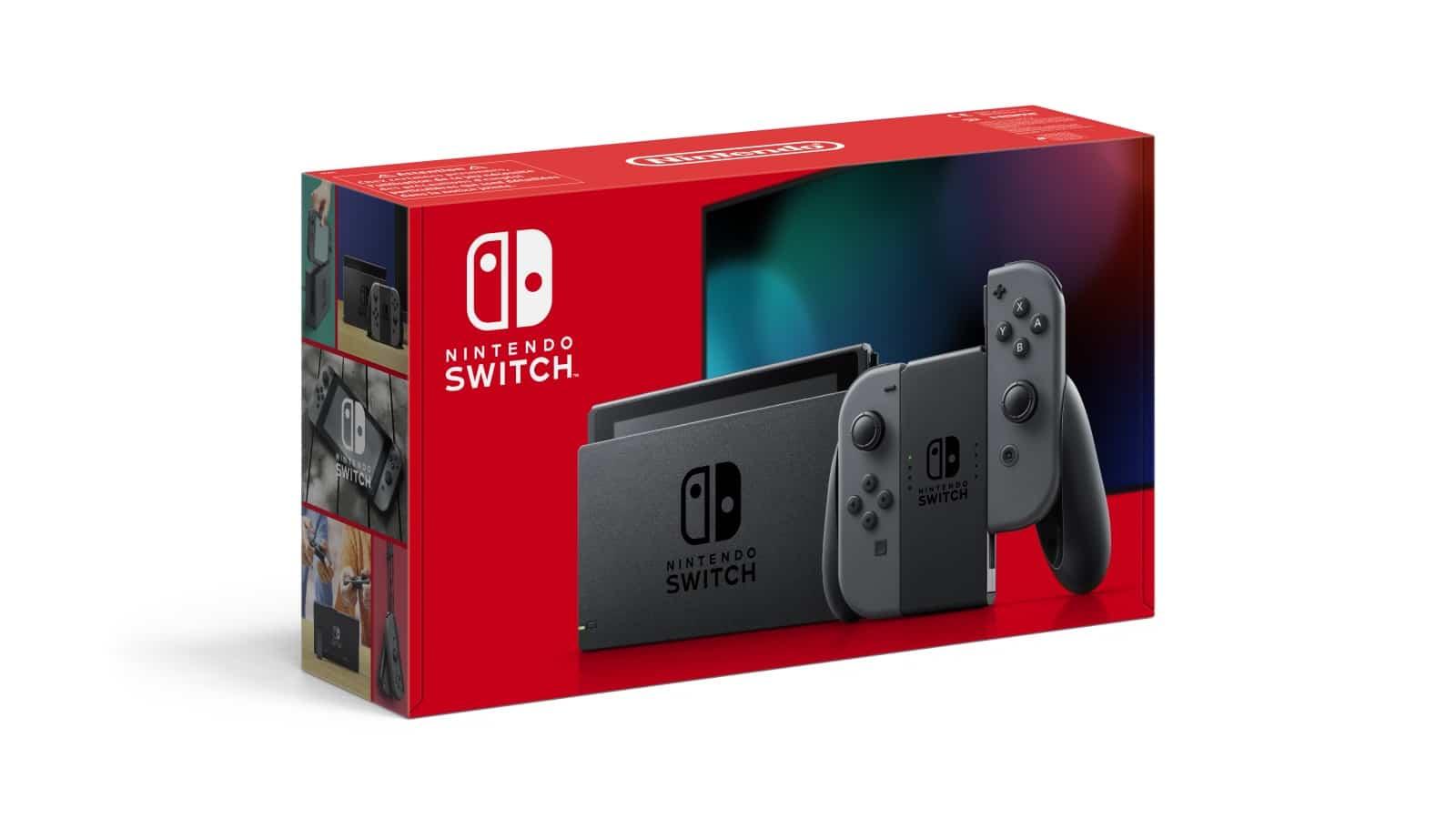 Nintendo Switch עם ג'וי-קון אפורים