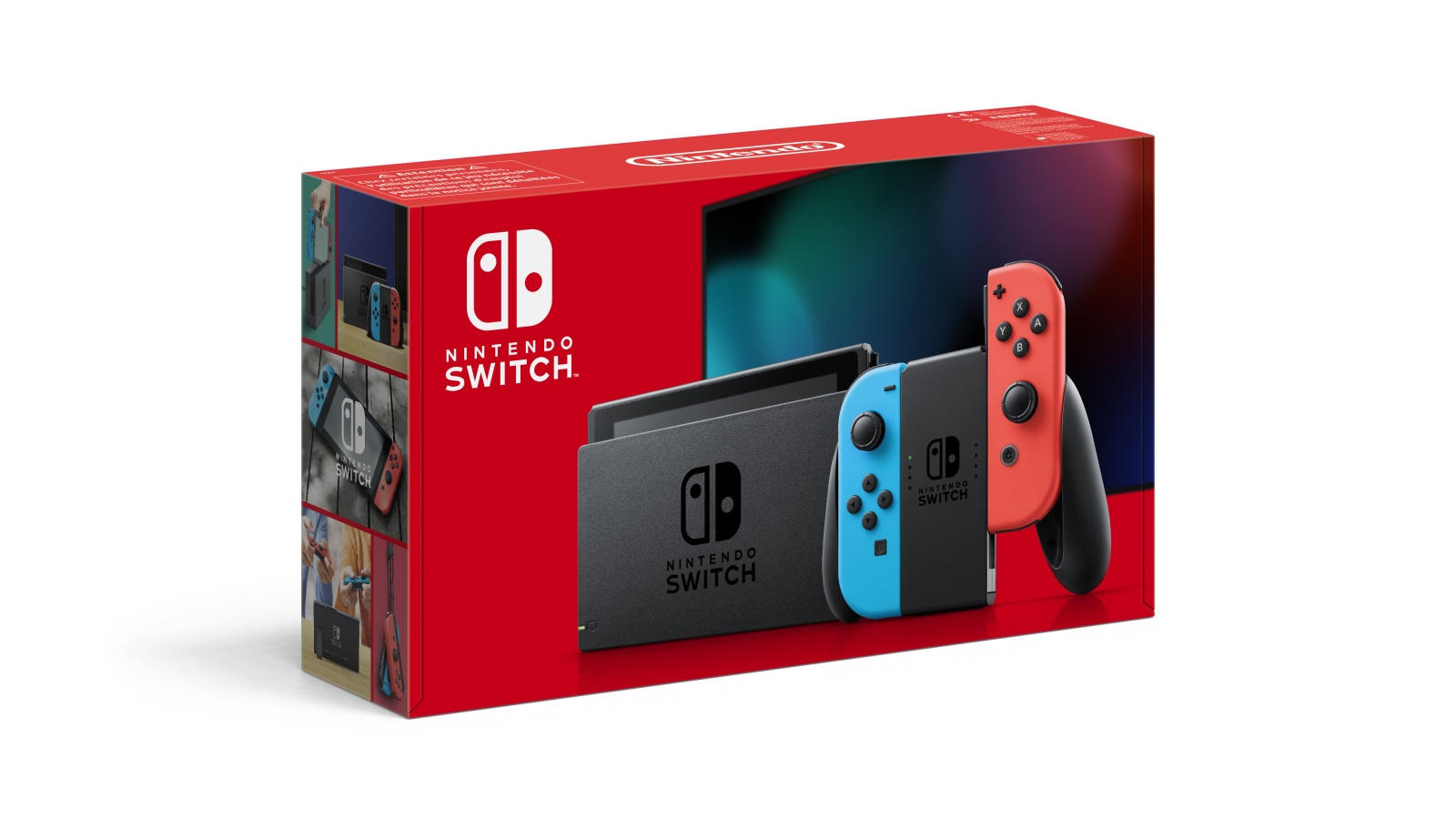 Nintendo Switch עם ג'וי-קון כחול ואדום