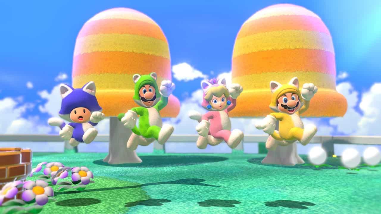 משחק Super Mario 3D World + Bowser's Fury לנינטנדו סוויץ' - דמויות בחליפת חתול
