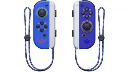 בקרי ג'וי-קון בעיצוב The Legend of Zelda: Skyward Sword HD עם סטראפ