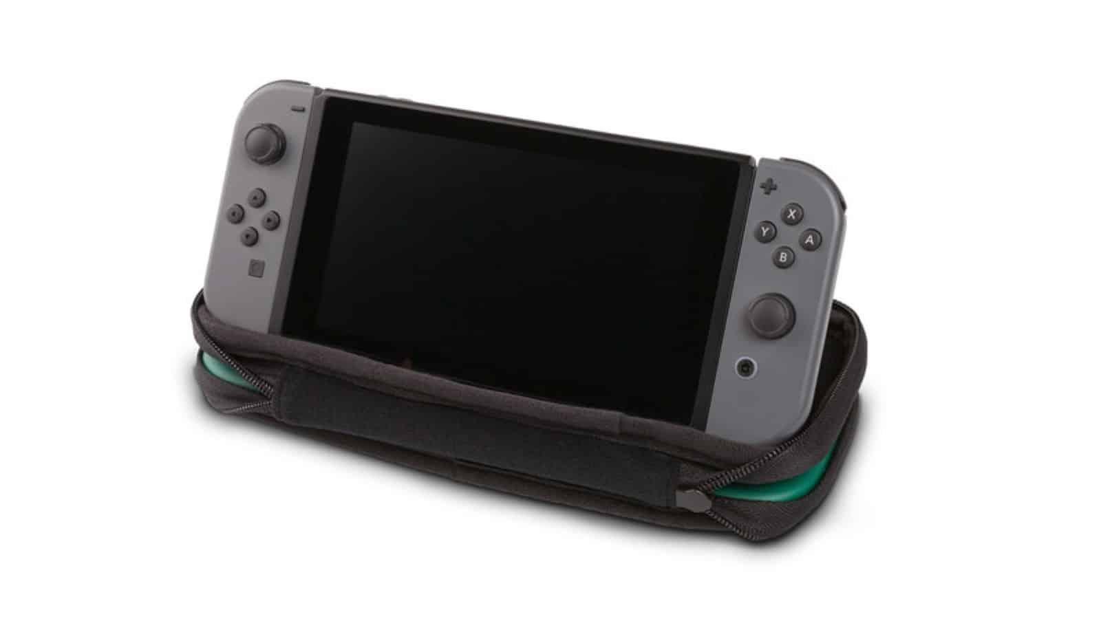 נרתיק נשיאה לנינטנדו סוויץ' בעיצוב לינק ממשחקי The Legend of Zelda - קונסולה עומדת 2