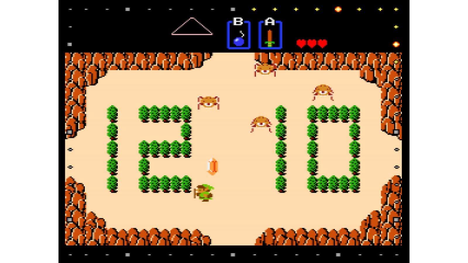 צילום מסך 5 לקונסולת Game & Watch: The Legend of Zelda לינק מביס את האויבים