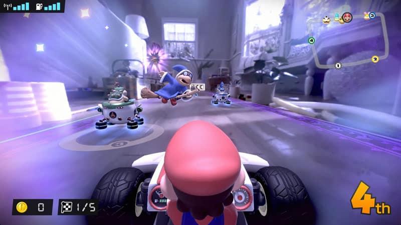 צילום מסך מהמשחק MarioKart Live Home Circuit