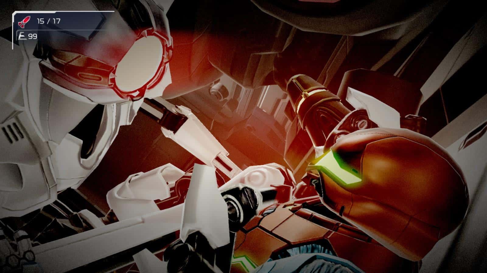צילום מסך 1 למשחק: Metroid Dread לקונסולת נינטנדו סוויץ' רובוטי E.M.M.I.