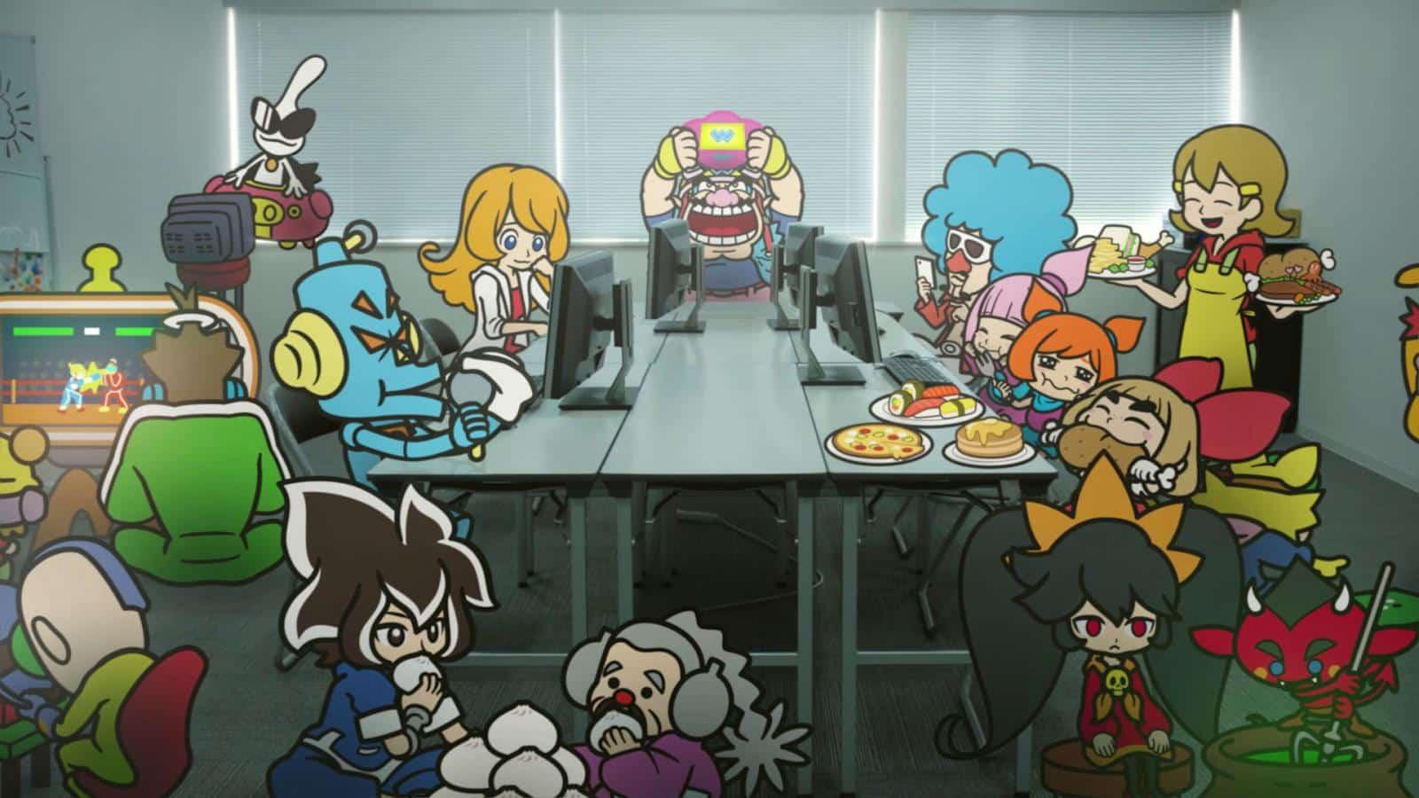 צילום מסך 3 למשחק: WarioWare: Get It Together! הדמות וואריו והצוות