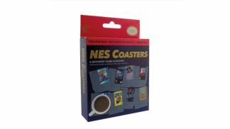 תחתיות לכוסות וספלים בעיצוב קלטות משחקי NES.