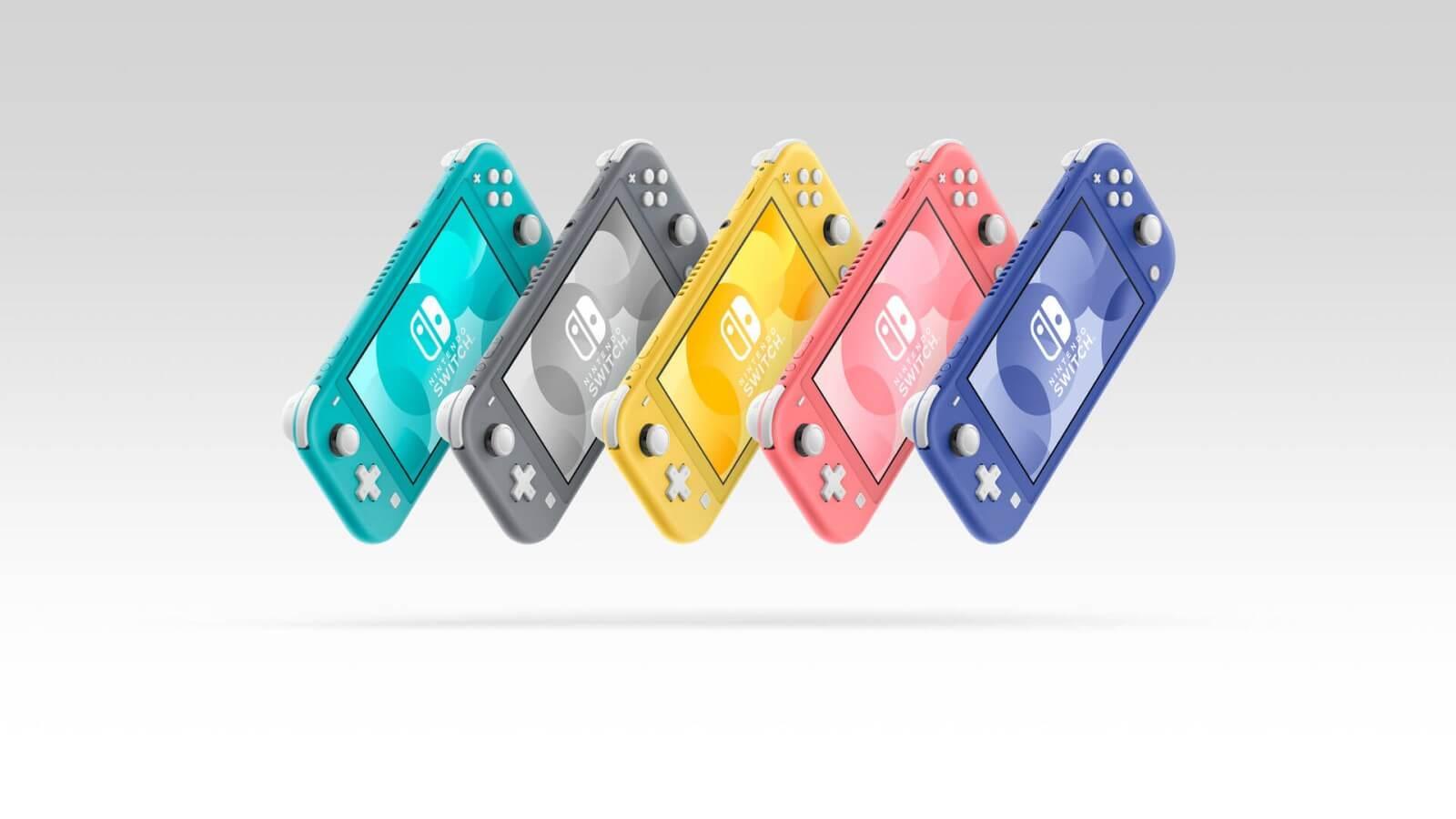 Nintendo Switch Lite בצבעים שונים