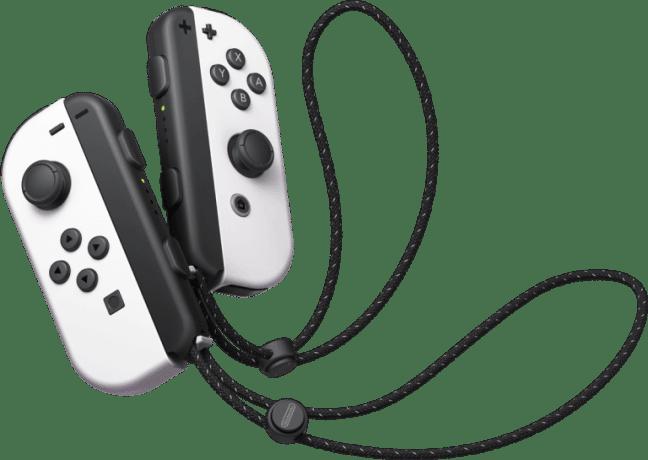 הג'וי קונים של Nintendo Switch OLED בצבע לבן
