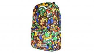 תיק גב עם הדפס דמויות מסדרת Super Mario.