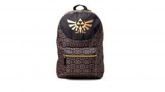 תיק גב בצבע חום בעיצוב סמל הטרייפורס מסדרת The Legend of Zelda.