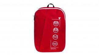תיק גב בצבע אדום בעיצוב ליין מוצרי 'Technical Trainer' של סדרת פוקימון.