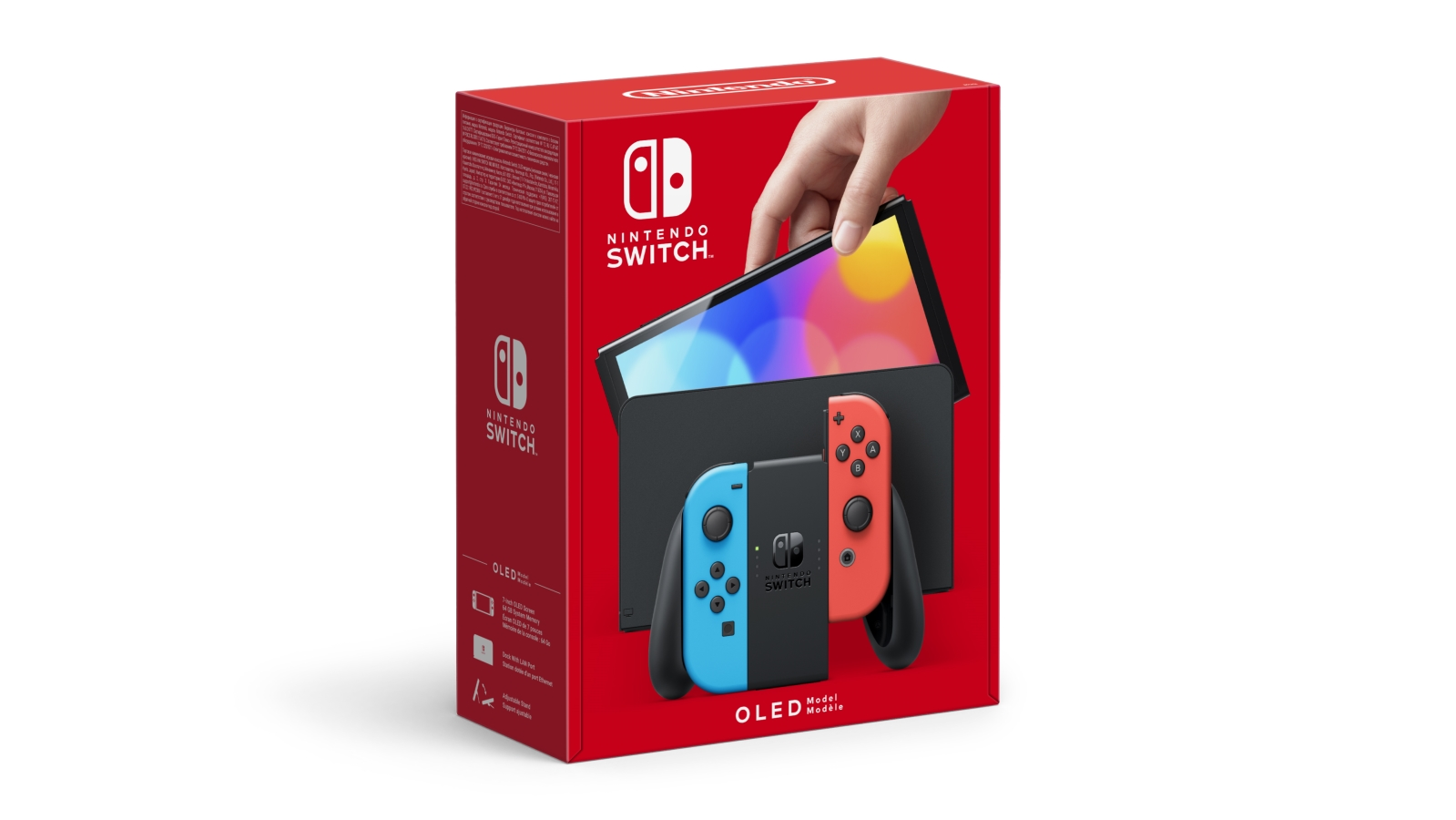 Nintendo Switch (דגם OLED) - אדום & כחול